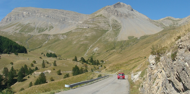 Landscape on the way to the Col de Vars