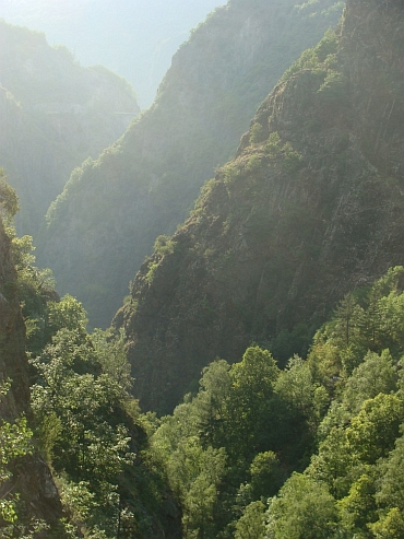 Gorges between La Grave and Bourg d'Oisans