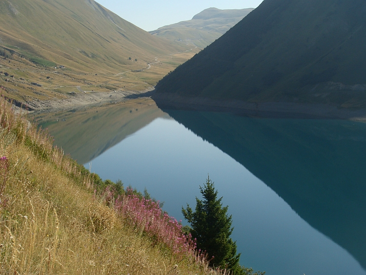 Mirror Images. On the way up the Col du Glandon / Croix de Fer (2.067 m)