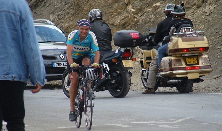 Willem Hoffmans reaches the Col du Galibier (2.646 m)