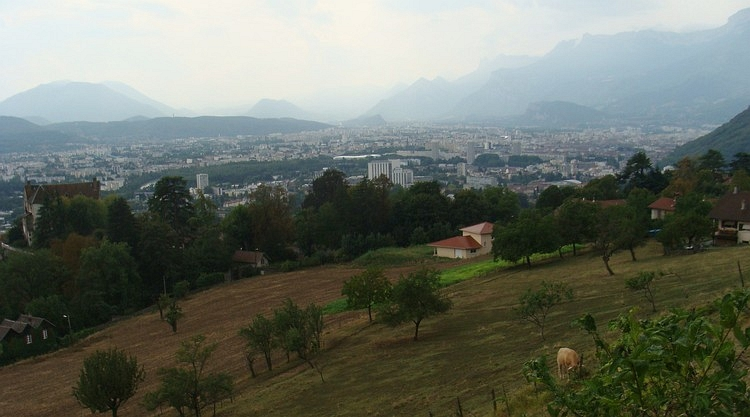 Looking down to Grenoble