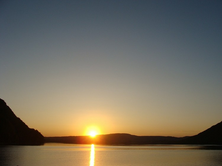 Sunset on the Lac Chalain, Jura