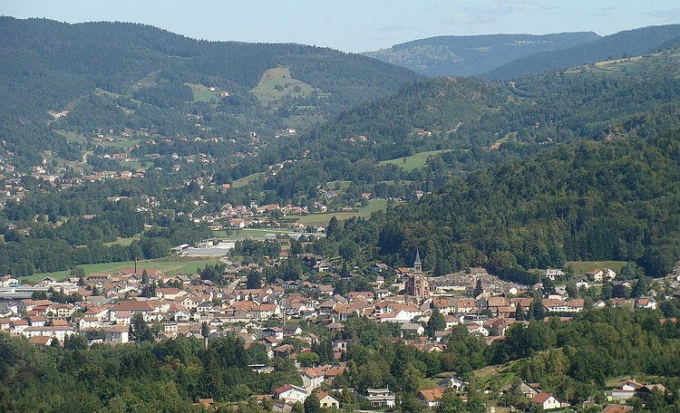 Hills and villages. Le Thillot, Vosges