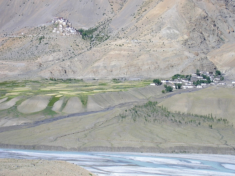 The village (middle) and monastery (up) of Key in remote Spiti