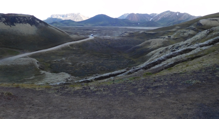 The F208 in Landmannalaugar