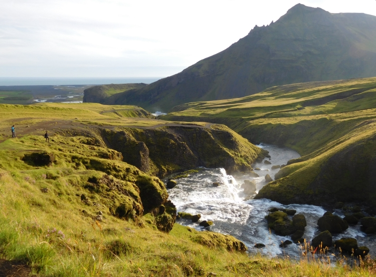 Landscape near the Skógafoss