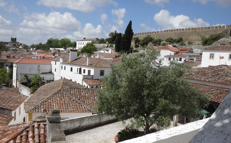 The white houses of Óbidos