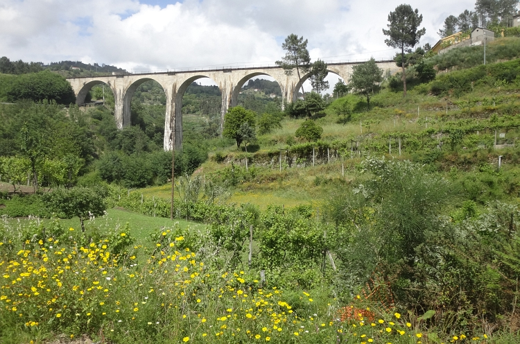 Railroad bridge in the hills between Ribadouro and Marco de Canaveses