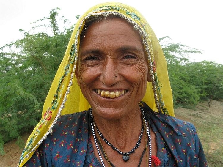 Woman in the countryside of Rajasthan