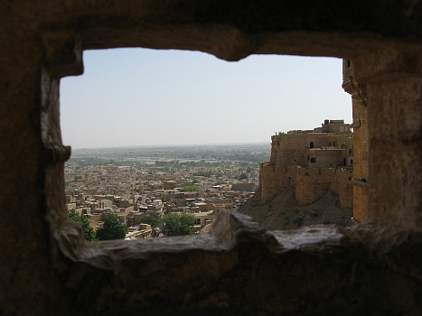 View over Jaisalmer from the fort