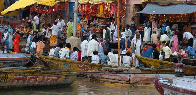 The holy River Ganges and the ghats of Varanasi