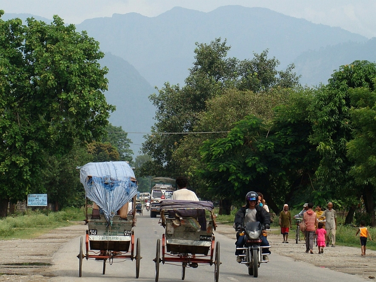On our way to the first Himalayan hill range, Butwal, Nepal