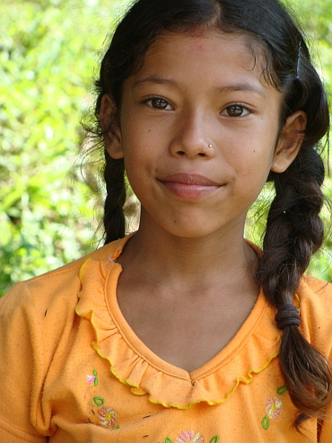Portrait of a young Nepali girl