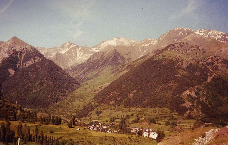 The southside of the Col du Pourtalet, Spanish Pyrenees