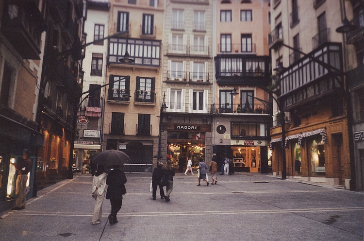 A rainy evening in Pamplona